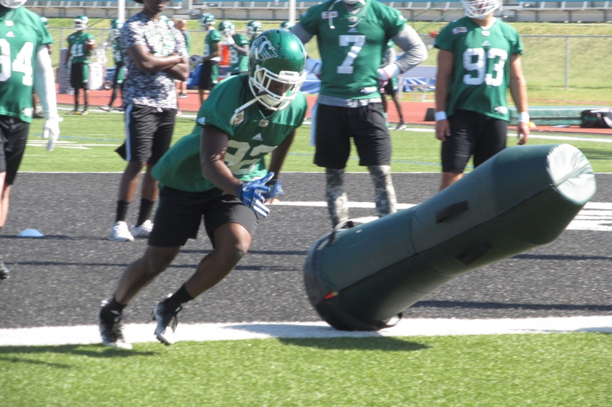 Antigha finding his fit on the Roughrider defensive line