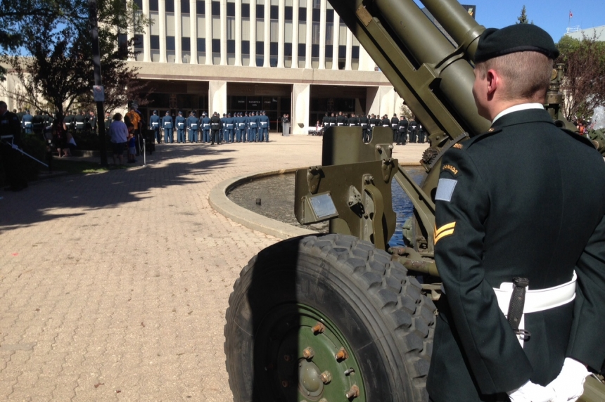 Canadian Armed Forces march in Regina's first Freedom of the City parade