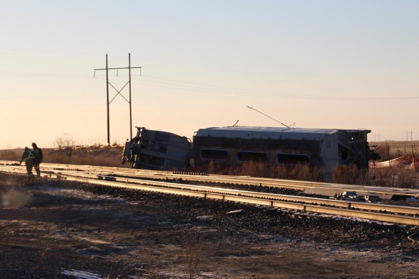 3 train cars derail near Watrous