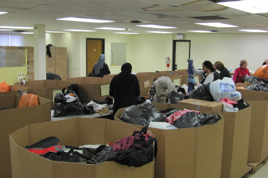 Donations being readied for refugees coming to Regina