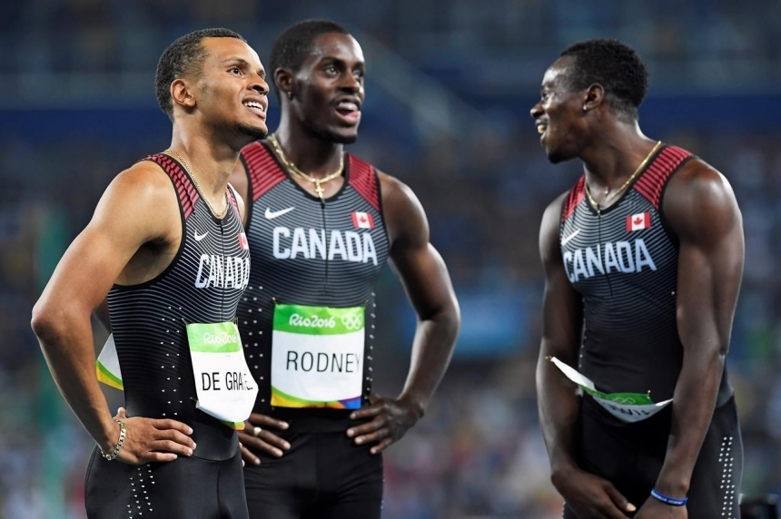 Canada picks up bronze in 4x100 relay after American DQ, capping eventful day in Rio