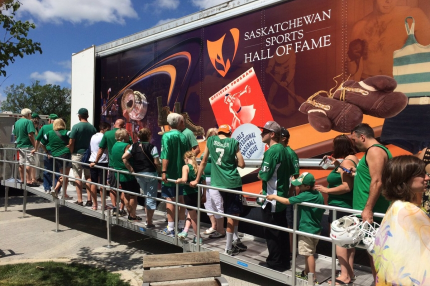 Former Riders join fans for kick-off to last season at Mosaic Stadium
