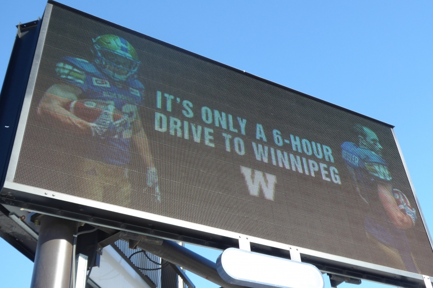 Blue Bombers' billboard appears in Regina