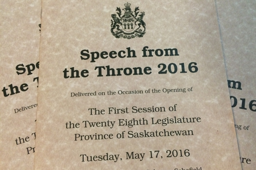 Sask. speech from the throne highlights election promises