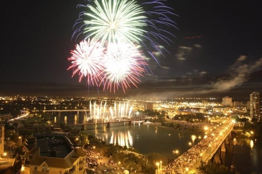 Saskatoon lighting up sky to kick off Canada's 150th birthday