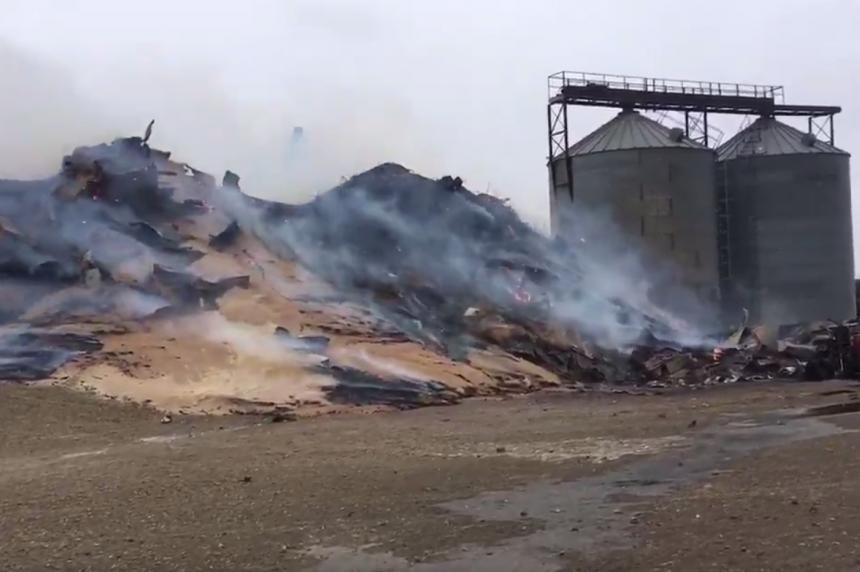Sask. community loses grain elevator to fire