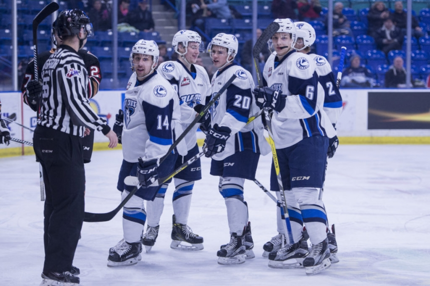 Blades take a key game over Red Deer