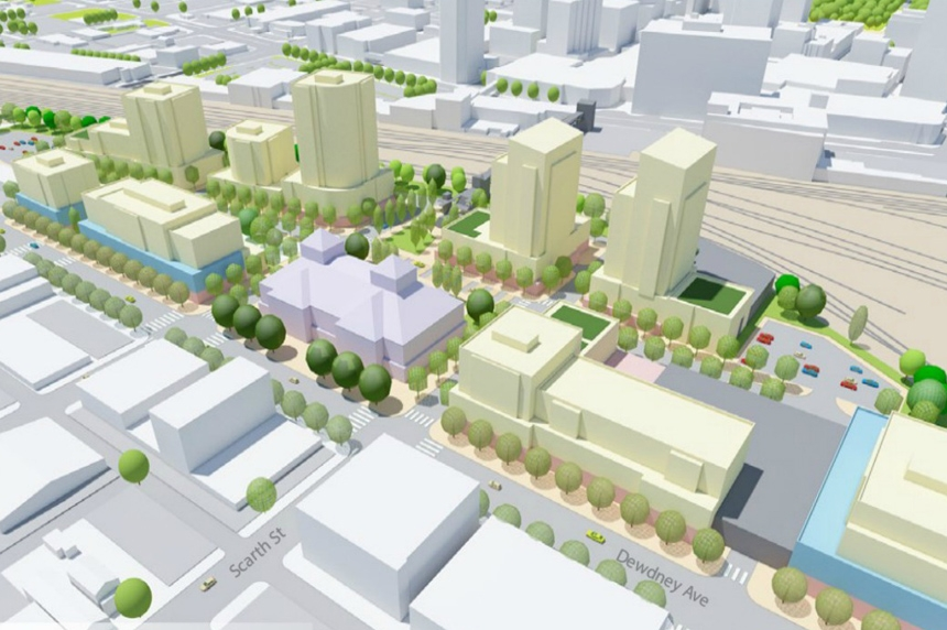 City of Regina seeks feedback on 3 concepts for rail yard redevelopment