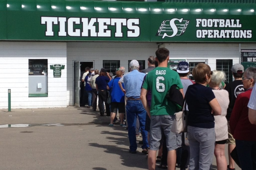 Fans line up for Rider tickets for the farewell season