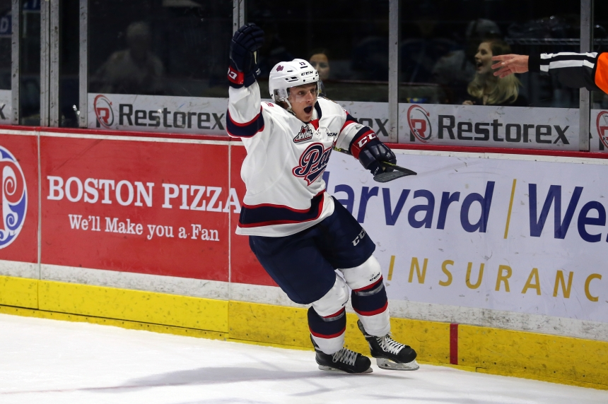 Pats blank Blades 4-0 in first half of back to back set