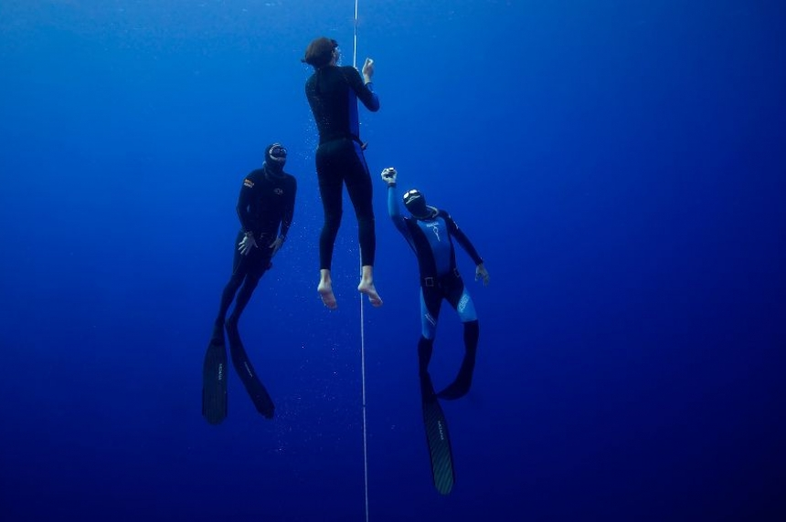 Prince Albert  born free-diver makes the impossible possible