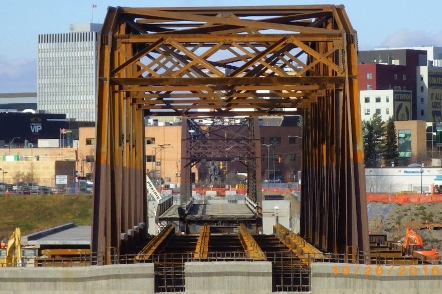 Mock rescue excercise on Saskatoon Traffic Bridge