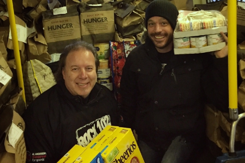 Rock 102 Stuff the Bus raises 34,000 pounds of food for Saskatoon food bank