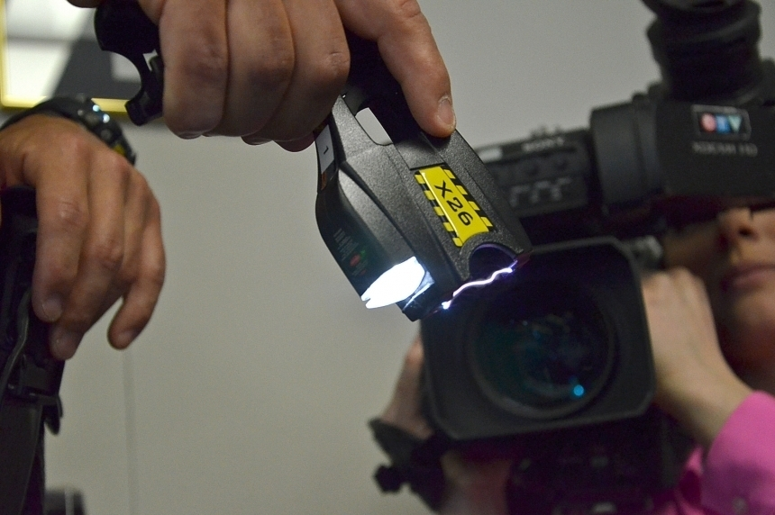 Police taser suspect alleged to have punched officer