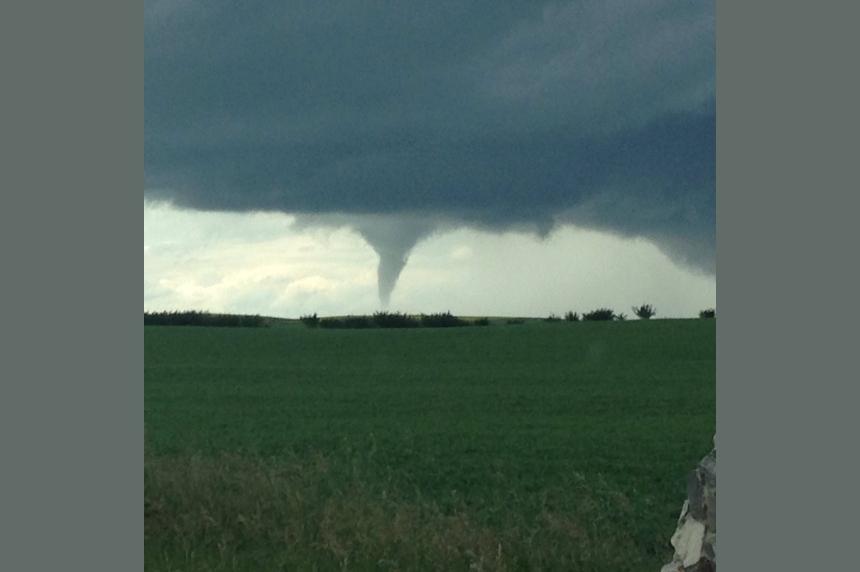 PHOTOS: Tornado touches down west of Biggar