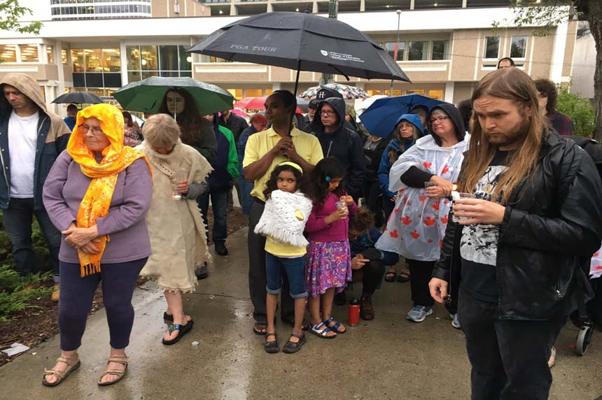 Saskatoon vigil remembers Charlottesville victims