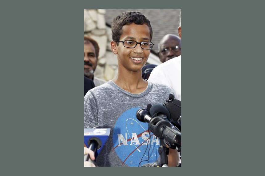 Support pours in for Muslim teen in Texas suspended after bringing clock to school