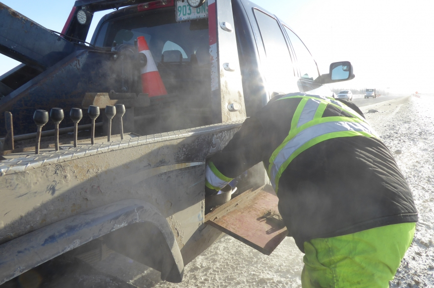 'Forgotten heroes:' Blizzards, cold weather mean busy day for tow truck drivers
