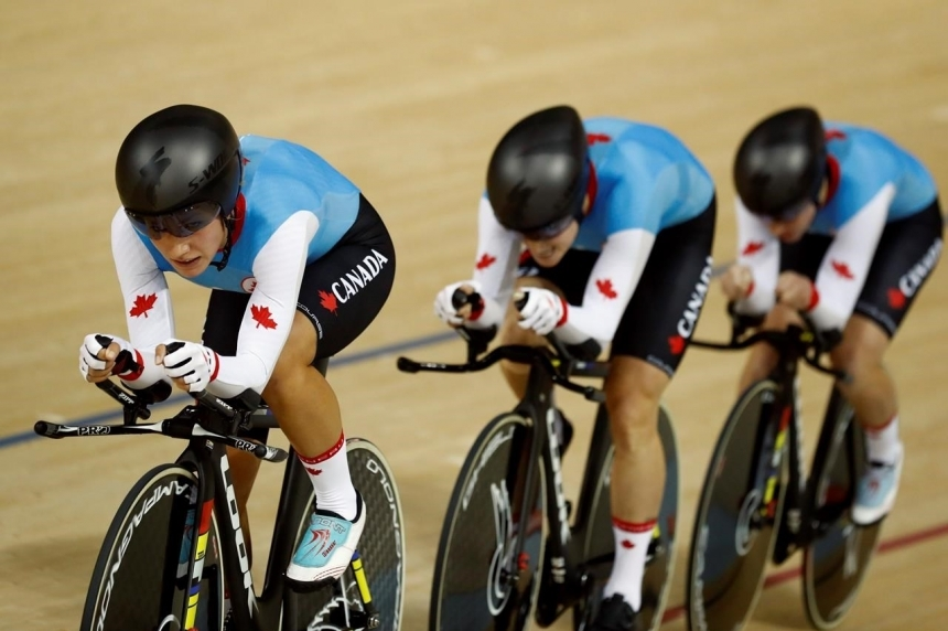 Canadian women win bronze medal in cycling team pursuit