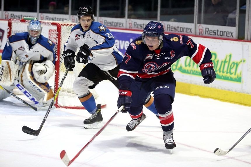 Adam Brooks scores a hat trick again in Pats 7-4 win over Brandon