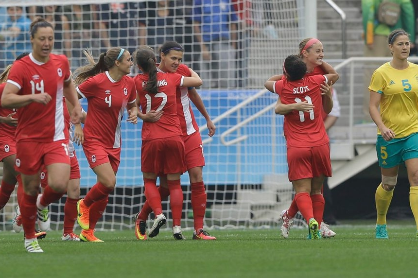 Canadian women's soccer team earns dramatic 2-0 win over Australia
