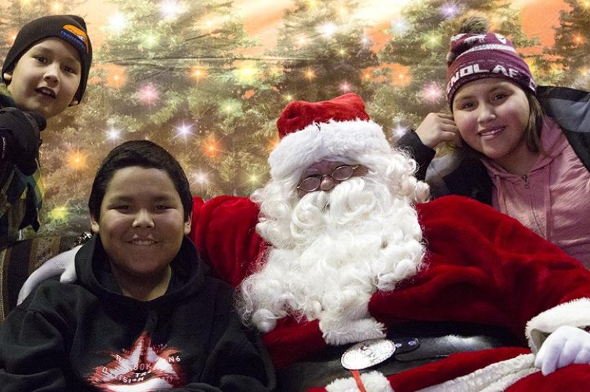 Northern Sask. kids get the chance to meet Santa
