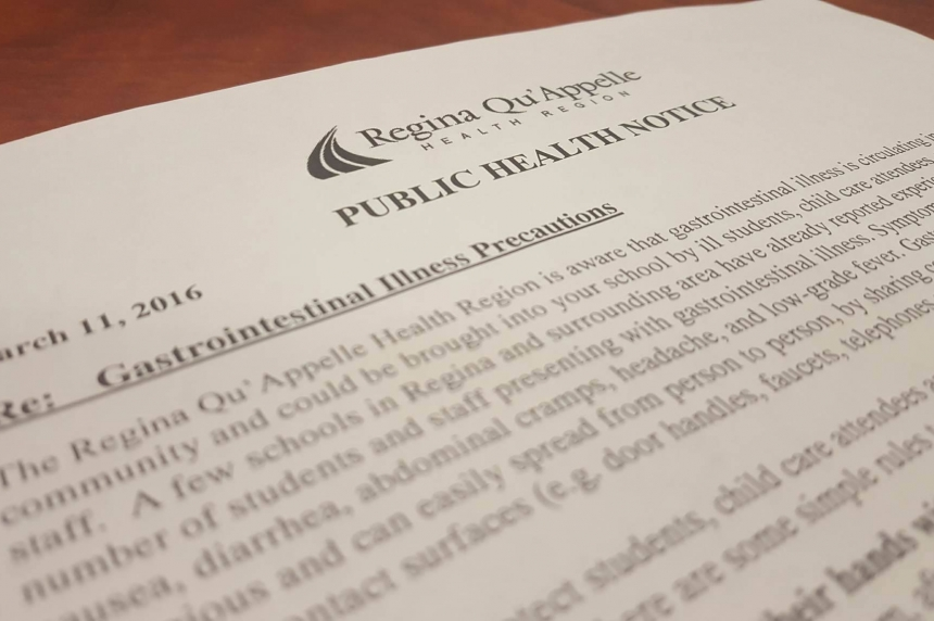 Regina health region warns schools about influx of gastrointestinal illness