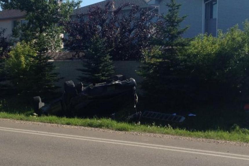 Truck rolls at northwest Regina intersection