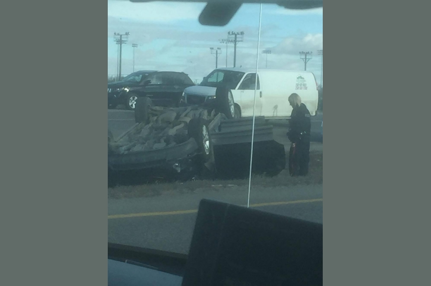 Crash slows traffic to a crawl on Regina's Ring Road