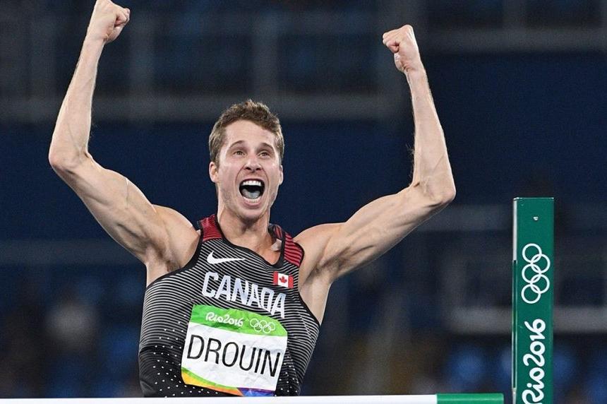 Canada's Derek Drouin wins gold medal in men's high jump