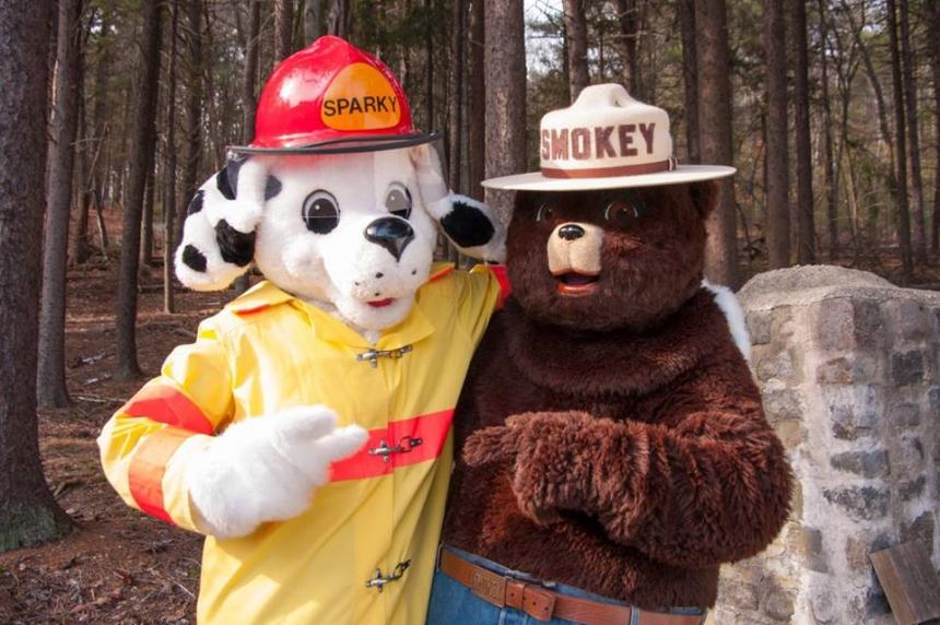 Fire safety mascot celebrates 65th birthday
