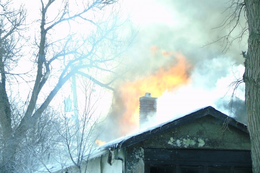 Fire guts home in North Central Regina