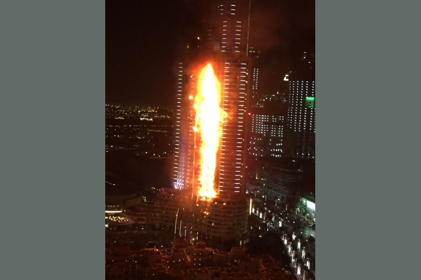 Fire breaks out in residential building near Dubai's massive New Year's fireworks display