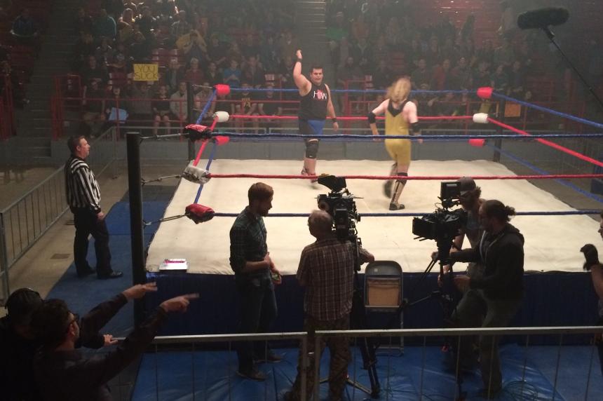 Regina film set captures wrestling history