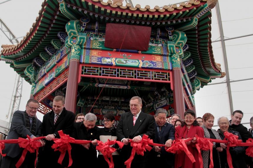 A beautiful Ting; Chinese community unveils new gazebo