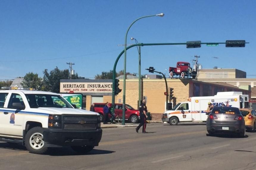Pedestrian hit in Moose Jaw