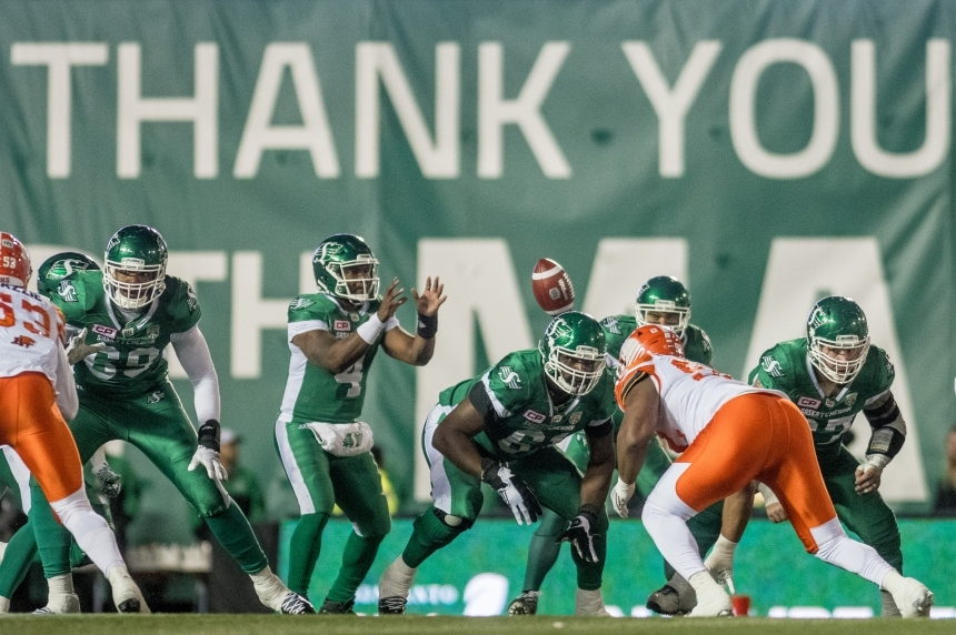 Riders drop final game in Mosaic 24-6 to B.C.