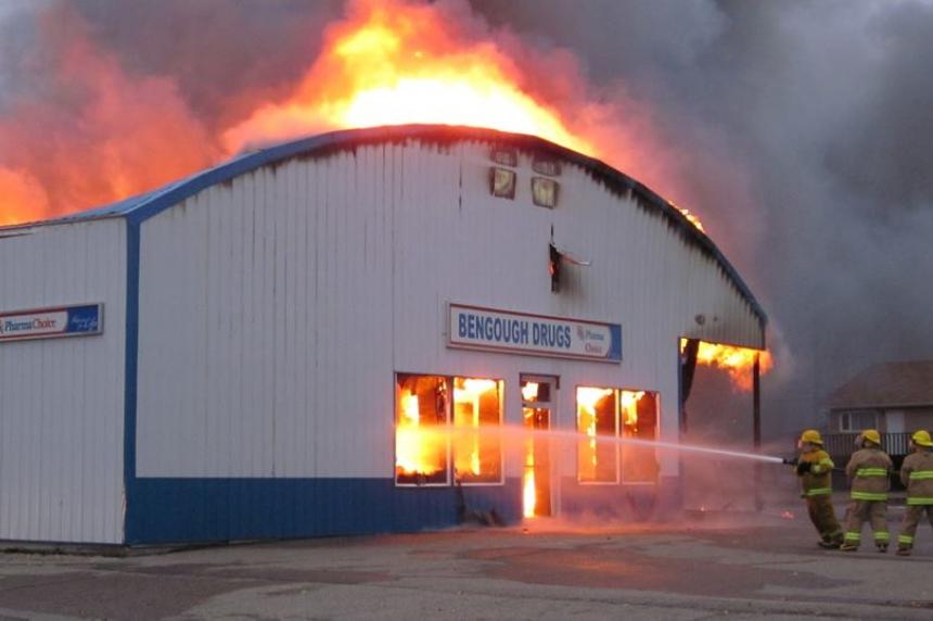 Fire destroys Bengough pharmacy