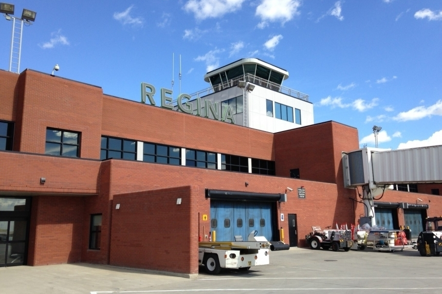 Cargo plane slides off runway, hits grass at Regina Airport