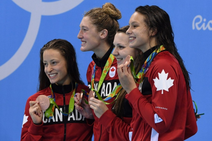 Canadian women win bronze medal in 4x200-metre freestyle relay at Rio Olympics
