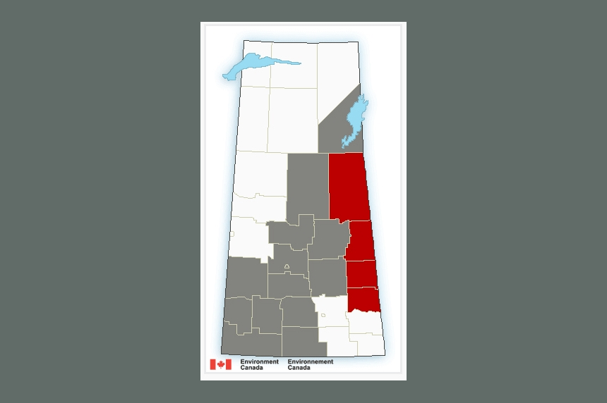 Snow and rainfall warnings for parts of Saskatchewan