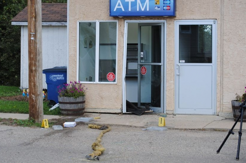 RCMP find ATM, stolen truck as search for suspects continues