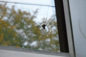 Police shooting window