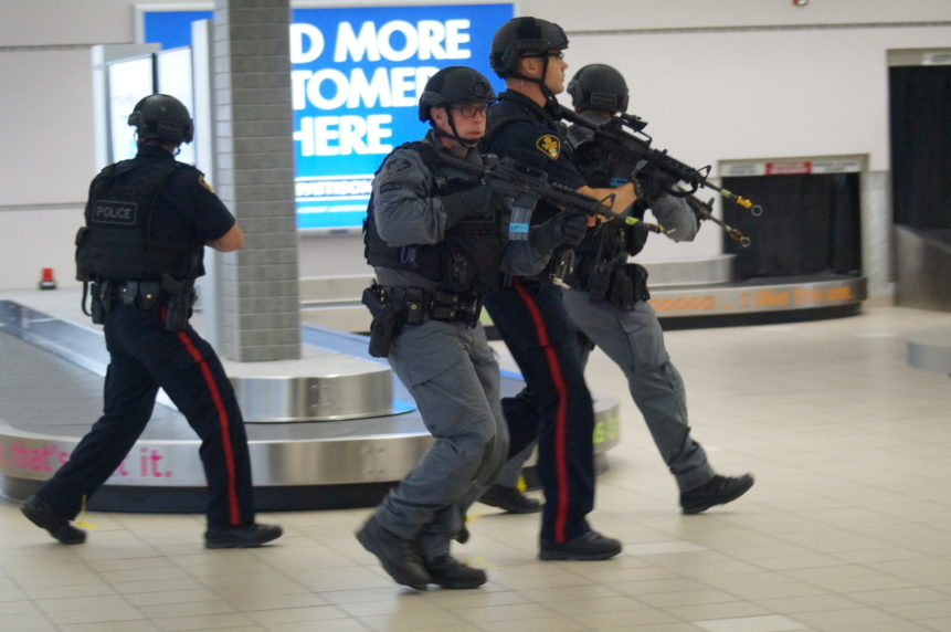 First responders train for shooter at Saskatoon airport