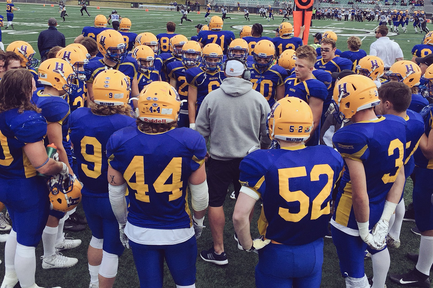 Hilltops rushing game too much for Winnipeg