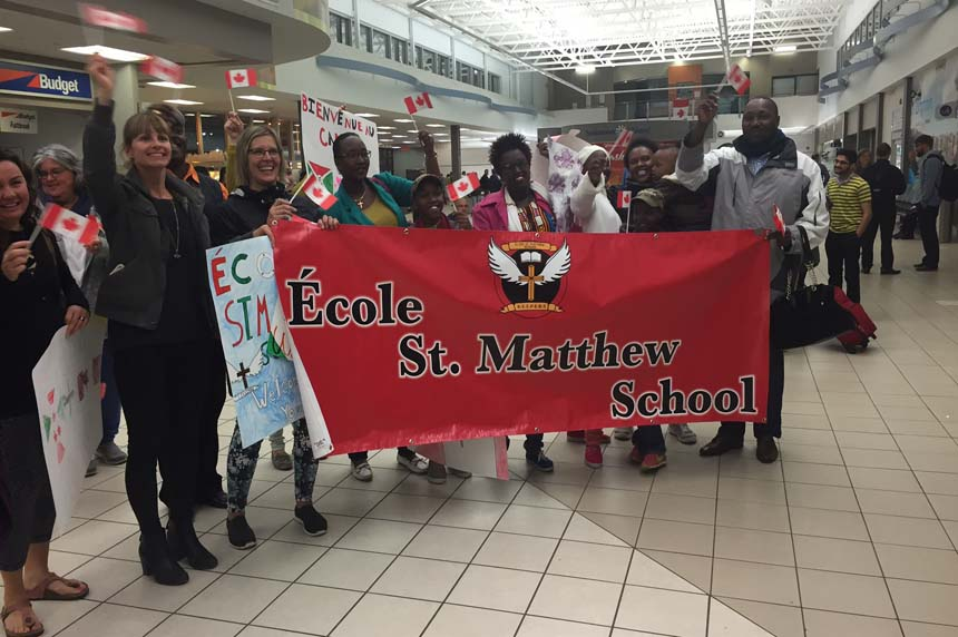 Saskatoon school welcomes refugee family to Canada