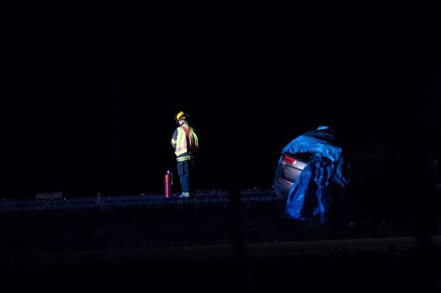 2 dead after truck, SUV crash near Prince Albert