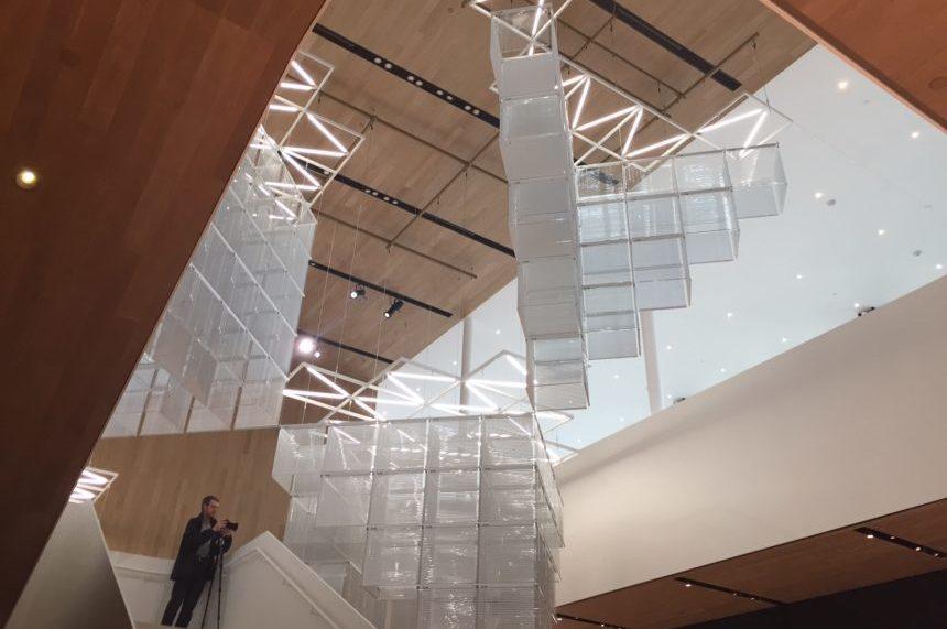 The entrance atrium of the Remai Modern art gallery in Saskatoon. (Daniella Ponticelli/650 CKOM)