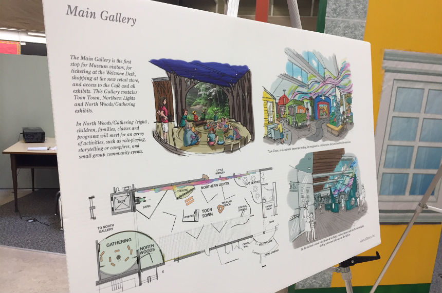 Plans for the main gallery of the Children's Discovery Museum, which will be built inside the former Mendel Art Gallery and open in 2019. (Daniella Ponticelli/650 CKOM)