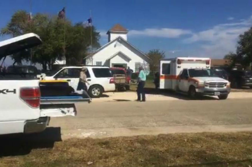 Local media say multiple victims in Texas church shooting